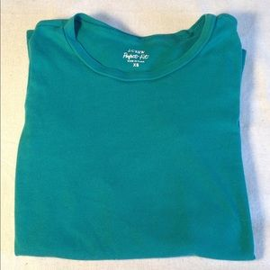💋J CREW💋 Perfect Fit Long Sleeve Tee Jade  XS
